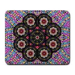 Decorative Ornate Candy With Soft Candle Light For Peace Large Mousepads by pepitasart