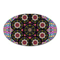 Decorative Ornate Candy With Soft Candle Light For Peace Oval Magnet by pepitasart