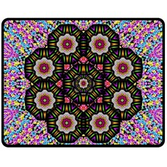 Decorative Ornate Candy With Soft Candle Light For Peace Fleece Blanket (medium)  by pepitasart