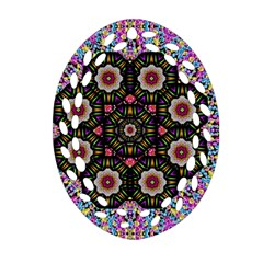 Decorative Ornate Candy With Soft Candle Light For Peace Ornament (oval Filigree)