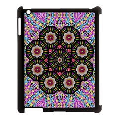 Decorative Ornate Candy With Soft Candle Light For Peace Apple Ipad 3/4 Case (black) by pepitasart