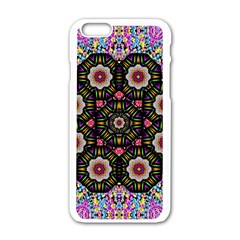 Decorative Ornate Candy With Soft Candle Light For Peace Apple Iphone 6/6s White Enamel Case