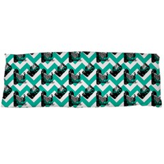 Vintage Camera Chevron Aqua Body Pillow Case Dakimakura (two Sides)