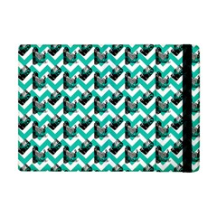 Vintage Camera Chevron Aqua Apple Ipad Mini Flip Case