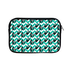 Vintage Camera Chevron Aqua Apple Ipad Mini Zipper Cases by snowwhitegirl