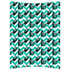 Vintage Camera Chevron Aqua Back Support Cushion