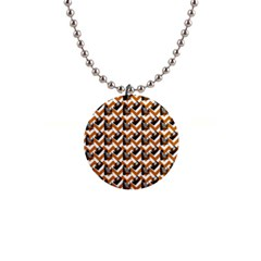 Vintage Camera Chevron Orange Button Necklaces