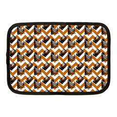 Vintage Camera Chevron Orange Netbook Case (medium)