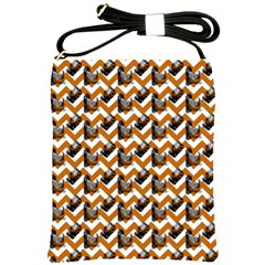 Vintage Camera Chevron Orange Shoulder Sling Bag