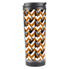 Vintage Camera Chevron Orange Travel Tumbler