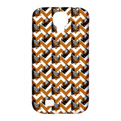 Vintage Camera Chevron Orange Samsung Galaxy S4 Classic Hardshell Case (pc+silicone) by snowwhitegirl