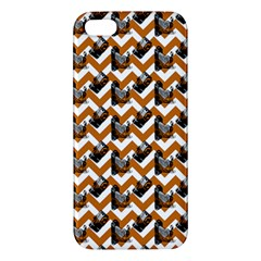 Vintage Camera Chevron Orange Iphone 5s/ Se Premium Hardshell Case by snowwhitegirl