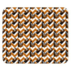 Vintage Camera Chevron Orange Double Sided Flano Blanket (small)
