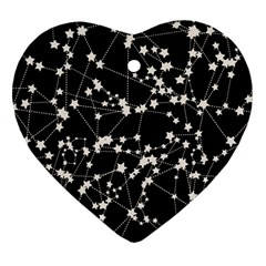 Constellations Heart Ornament (two Sides)