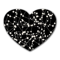 Constellations Heart Mousepads by snowwhitegirl