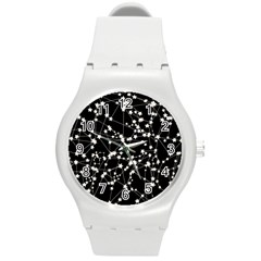 Constellations Round Plastic Sport Watch (m) by snowwhitegirl