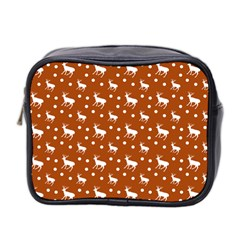 Deer Dots Orange Mini Toiletries Bag (two Sides)