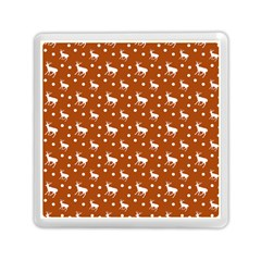 Deer Dots Orange Memory Card Reader (square)
