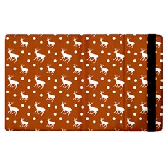 Deer Dots Orange Apple Ipad 3/4 Flip Case