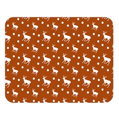 Deer Dots Orange Double Sided Flano Blanket (large)