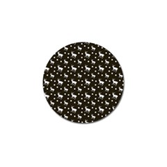 Deer Dots Brown Golf Ball Marker (10 Pack)