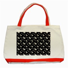 Deer Dots Brown Classic Tote Bag (red)