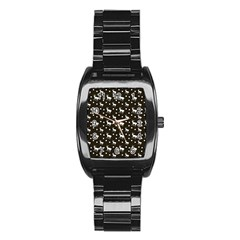 Deer Dots Brown Stainless Steel Barrel Watch