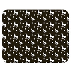 Deer Dots Brown Double Sided Flano Blanket (medium)