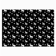 Deer Dots Black Large Glasses Cloth (2 Side)