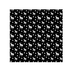 Deer Dots Black Small Satin Scarf (square)
