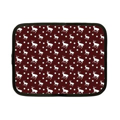 Deer Dots Red Netbook Case (small)