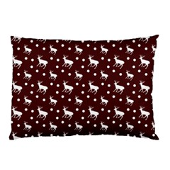 Deer Dots Red Pillow Case by snowwhitegirl