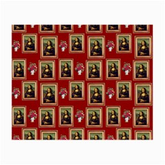 Mona Lisa Frame Pattern Red Small Glasses Cloth
