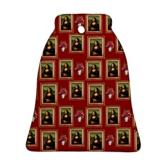 Mona Lisa Frame Pattern Red Ornament (bell)