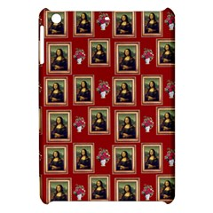Mona Lisa Frame Pattern Red Apple Ipad Mini Hardshell Case by snowwhitegirl
