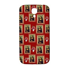 Mona Lisa Frame Pattern Red Samsung Galaxy S4 I9500/i9505  Hardshell Back Case