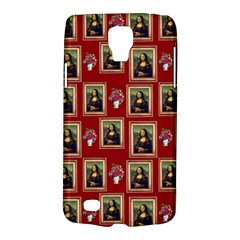 Mona Lisa Frame Pattern Red Samsung Galaxy S4 Active (i9295) Hardshell Case