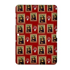 Mona Lisa Frame Pattern Red Samsung Galaxy Tab 2 (10 1 ) P5100 Hardshell Case