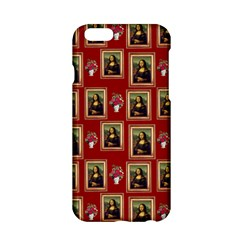 Mona Lisa Frame Pattern Red Apple Iphone 6/6s Hardshell Case