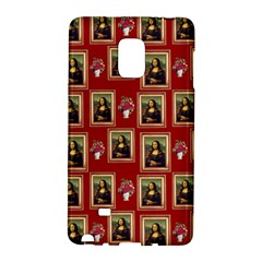 Mona Lisa Frame Pattern Red Samsung Galaxy Note Edge Hardshell Case