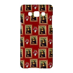 Mona Lisa Frame Pattern Red Samsung Galaxy A5 Hardshell Case