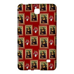 Mona Lisa Frame Pattern Red Samsung Galaxy Tab 4 (7 ) Hardshell Case