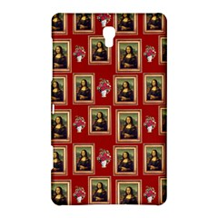 Mona Lisa Frame Pattern Red Samsung Galaxy Tab S (8 4 ) Hardshell Case