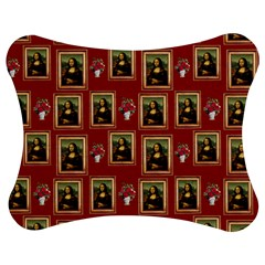 Mona Lisa Frame Pattern Red Jigsaw Puzzle Photo Stand (bow)