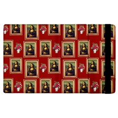 Mona Lisa Frame Pattern Red Apple Ipad Pro 9 7   Flip Case