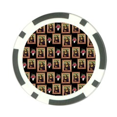Mona Lisa Frame Pattern Poker Chip Card Guard (10 Pack)