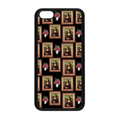 Mona Lisa Frame Pattern Apple Iphone 5c Seamless Case (black)