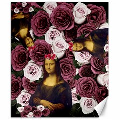 Mona Lisa Floral Black Canvas 8  X 10