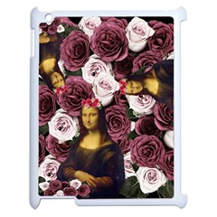 Mona Lisa Floral Black Apple Ipad 2 Case (white)