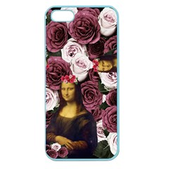 Mona Lisa Floral Black Apple Seamless Iphone 5 Case (color)